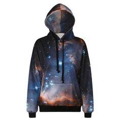 Dark Blue Galaxy Hoodie