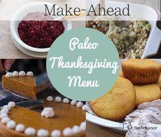 My Make-Ahead Paleo Thanksgiving Menu #paleo #thanksgiving