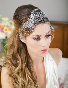 Birdcage Veil with Crystal Comb