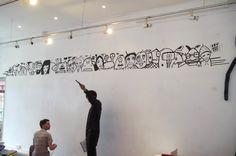 Kev Munday mural at Graffik Gallery