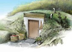 Root Cellar Plans - These unique root cellar plans show you how to build a root cellar for food storage by adapting a new concrete septic tank.