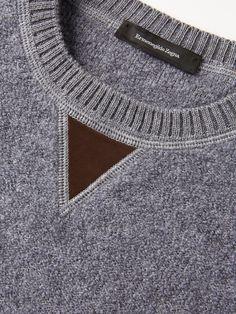Серый джемпер из кашемира и шелка