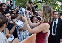 Celebrity Gossip, Entertainment News & Celebrity News   TIFF On the Scene: John Krasinski and Emily Blunt Get Cute For Looper   POPSUGAR Celebrity