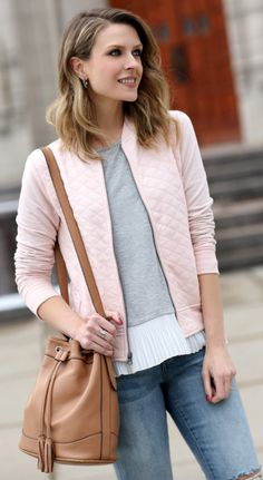 Quilted bomber jacket under $30
