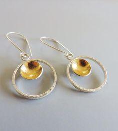 Silver Goldie Hoop Earrings by McKenzie Mendel Jewelry on Scoutmob Shoppe