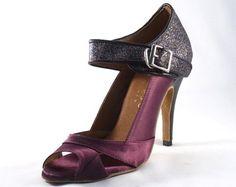 NEW Purple Satin+Glitter BALLROOM LATIN Dance Shoe Dance Shoes Salsa Shoes us5-8