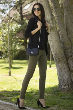 Look: green militar pants - Rosalia - Trendtation