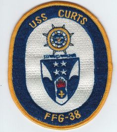 80s USS CURTS FFG-38 patch