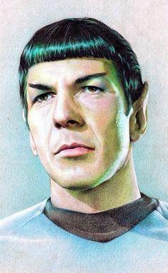 #startrek #starfleet #scifi #sciencefiction #art #spock #vulcan #leonard #nimoy #leonardnimoy