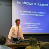 Intro to Business - Fall 2011 - Video Podcasts by Prof. Ross Gittell - UNH Whittemore School of Business and Economics