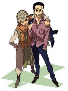 Leorio and Ging Hunter X Hunter, Hunter Fans, Blade Runner, Manga, Dad Of The Year, Ging Freecss, Japanese Animated Movies, Yoshihiro Togashi, Hisoka