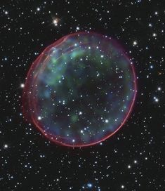 Mind-Blowing Photos Of The Universe From The Hubble Space Telescope - NASA / Reuter Images - Article by Gavon Laessig for https://www.buzzfeed.com/amphtml/gavon/44-mind-blowing-photos-from-the-hubble-telescope. Supernova remnant 0509-67.5, located in the Large Magellanic Cloud, a small galaxy about 170,000 light-years from Earth.