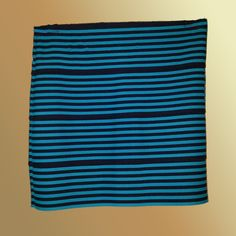 Pleasure Doing Business - Turquoise & Black Body-con Striped Skirt - Size Medium