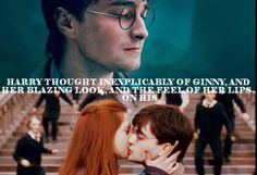 I know some people dont like Harry and Ginny together but I adore them :) 💕 Harry Potter Ginny Weasley, Harry And Ginny, Harry Potter Ships, Harry Potter Quotes, Harry Potter Love, Harry Potter Universal, Harry Potter Fandom, Harry Potter World, Maxon Schreave