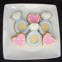... engagement party, wedding shower, bachelorette party cookies...really cute idea!