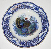 Hand Painted Vintage Turkey Plate by Royal Cauldon