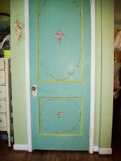 painted hall door