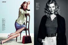 Eva Herzigova is Ladylike Glam for L'Express Styles by Nico