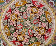 Islamic art, Wah, Pakistan, Pakistan Art ceiling of one of the mosque domes in Wah, Pakistan Islamic Art Pattern, Pattern Art, Pattern Designs, Pakistan Art, Islamic Tiles, Lego, Cult, Religious Art, Shape Design