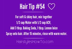 Quick & Simple Tip to Get Soft & Shiny Hair