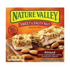 Nature Valley Sweet Salty Nut Almond Granola Bars, 1.2 oz, 6 count ❤ liked on Polyvore featuring food and comida