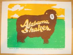 2012 Alabama Shakes - Austin Concert Poster by Andrew Vastagh