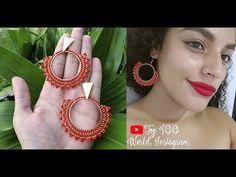 COMO HACER ARETES EN MOSTACILLA ❤️ HERMOSOS AROS TUTORIAL❤️ - YouTube Seed Bead Earrings, Beaded Earrings, Seed Beads, Drop Earrings, Bead Jewellery, Diy Jewelry, Beaded Jewelry, Jewelry Making, Earring Tutorial