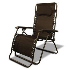 Brown Caravan Canopy Oversize Zero Gravity Chair