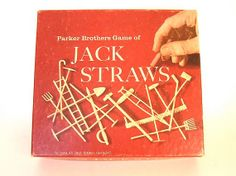 Vintage Parkers Brothers Game Jack Straws