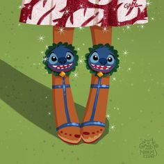 """Lilo from """"Lilo & Stitch"""". In this case, the couple took inspiration from Charlotte Olympia, and Christian Louboutin to make a pair for little Lilo and her grown up version. Walt Disney, Disney Style, Disney Love, Disney Magic, Lilo Stitch, Lilo And Stitch 2002, Disney Fan Art, Disney Artwork, Disney Princess Shoes"""