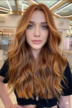 Ginger Hair Color, Strawberry Blonde Hair Color, Ginger Hair Dyed, Ginger Brown Hair, Strawberry Hair, Hair Color Auburn, Auburn Hair, Red Hair Inspo, Hair Affair