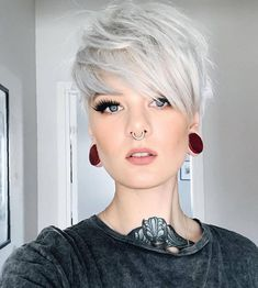 Today we have the most stylish 86 Cute Short Pixie Haircuts. Pixie haircut, of course, offers a lot of options for the hair of the ladies'… Continue Reading → Short Silver Hair, Edgy Short Hair, Short Hair Trends, Short Hairstyles For Thick Hair, Haircut For Thick Hair, Short Pixie Haircuts, Pixie Hairstyles, Short Hair Cuts, Curly Hair Styles