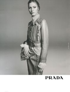 Julia Nobis for Prada SS 2015 Campaign by Steven Meisel