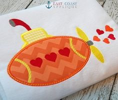 Sea of Love Applique - 3 Sizes!   Valentine's Day   Machine Embroidery Designs   SWAKembroidery.com