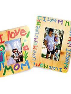 """Create an """"I Love You, #Mom"""" frame this Mother's Day - fun for #kids and adults alike!"""