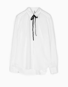 Shirt with contrasting edging - SHIRTS - WOMAN | Stradivarius Hungary