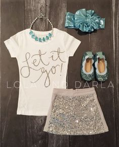 Let it Go Toddler and Girls Sparkle T Shirt