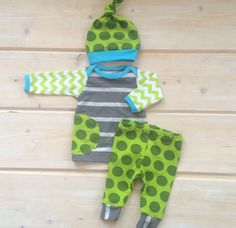 Newborn boy take home outfit in fun and vibrant by LemonJuicebrand