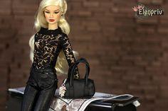ELENPRIV black lace top for Fashion royalty FR2 and similar body size dolls. by elenpriv on Etsy