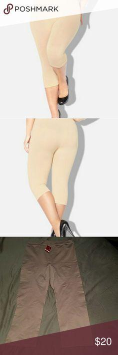 AVENUE Body Embrace Capri Legging 18/20 Plus size shaper-Beige. 95%Nylon 5%Spandex Avenue Intimates & Sleepwear Shapewear