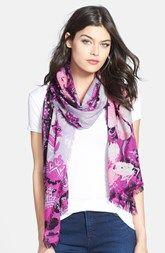 Nordstrom 'Baroque Floral' Wool Scarf