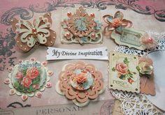Secret Garden Scrapbook Embellishments by mydivineinspiration, $4.99