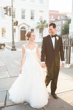 Our bride Julie featured on @TheWeddingRow! Wearing @pronovias. Jenna Marie Weddings.