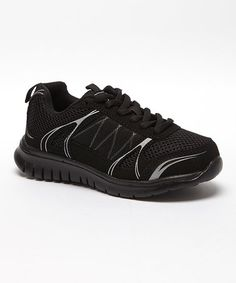 Loving this Black Contrast Sneaker on #zulily! #zulilyfinds
