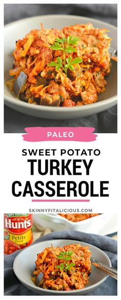 Paleo Sweet Potato Turkey Casserole with eggplant and warm spices. Healthy hearty and delicious! Paleo Sweet Potato Turkey Casserole with eggplant and warm spices. Healthy hearty and delicious! Turkey Casserole, Sweet Potato Casserole, Breakfast Casserole, Healthy Casserole Recipes, Healthy Recipes, Healthy Foods, Paleo Sweet Potato, Sweet Potato Recipes, Healthy Low Calorie Meals