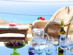 Rethymno villa rental - Magnificent views from everywhere you stand in the terrace! Gold Sand, Crystal Clear Water, Terrace, Swimming Pools, Villa, Beach, Holiday, Balcony, Swiming Pool