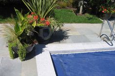 Hardy Island Granite coping compliments other types of stone or brick. Stone coping is used as a garden stone, or to cap retaining walls. Pool Coping Tiles, Coping Stone, Granite Paving, Types Of Stones, Dove Grey, Garden Stones, Natural Stones, Swimming Pools, Brick
