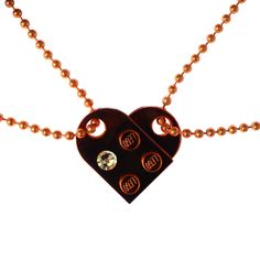Chrome Orange 2 piece customizable LEGO® heart made from 2 LEGO® plates with a 'Diamond' color SWAROVSKI® crystal on 2 Orange ballchains Bracelet Making, Jewelry Making, Bff, Love Is, Colored Diamonds, Heart Shapes, Swarovski Crystals, Fashion Accessories, Best Friends Forever