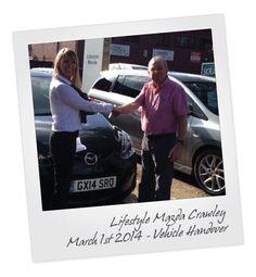 Mazda2 Vehicle Handover at Crawley Mazda in West Sussex