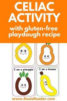 This celiac activity with gluten-free playdough recipe was a hit with Rosie!!! Shape Activities Kindergarten, Activities For 5 Year Olds, Playdough Activities, Preschool, Celiac Disease In Children, Make Your Own Playdough, Free Fruit, Adhd Kids, Crafts For Kids To Make